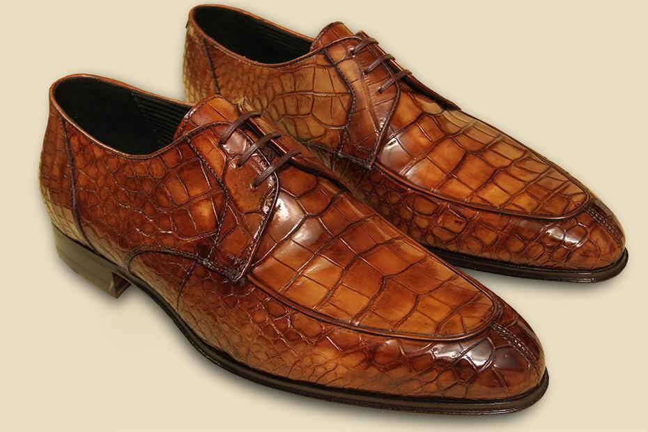 Реставрация обуви из рептилий