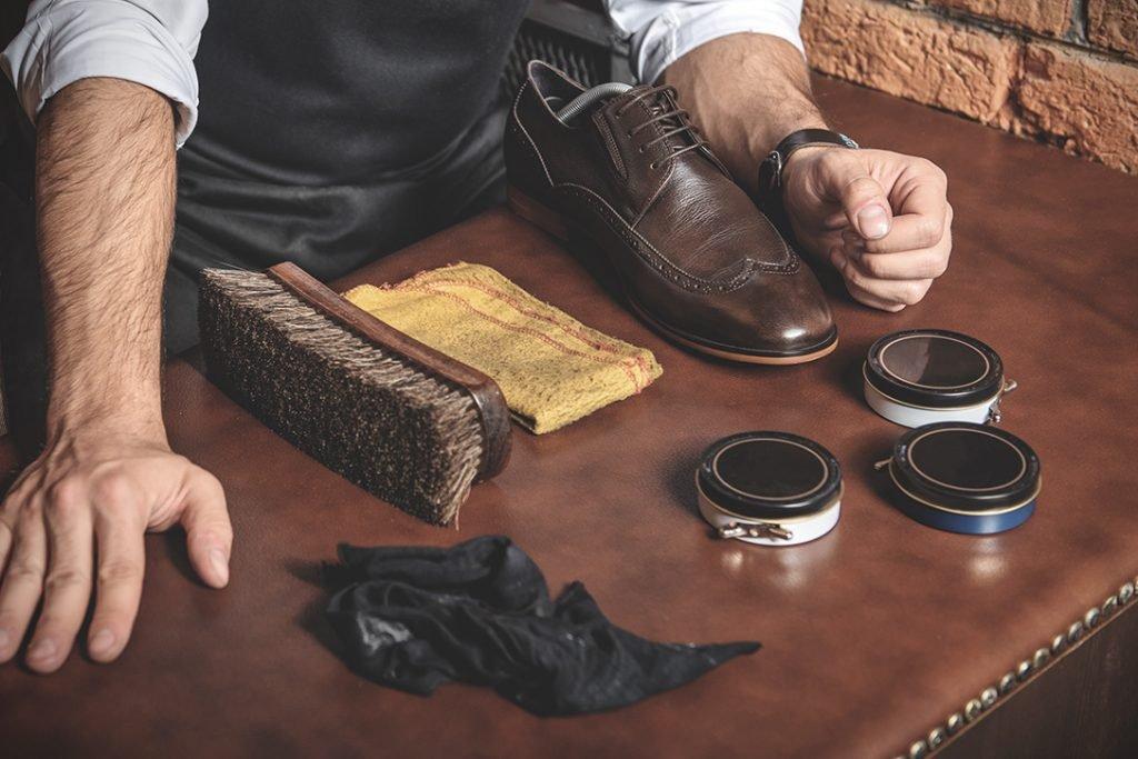 Чистка обуви из гл. кожи